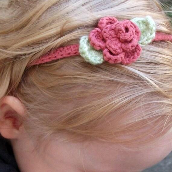 Download Now - CROCHET PATTERN Rose Garden Crocheted Headband - Pattern PDF