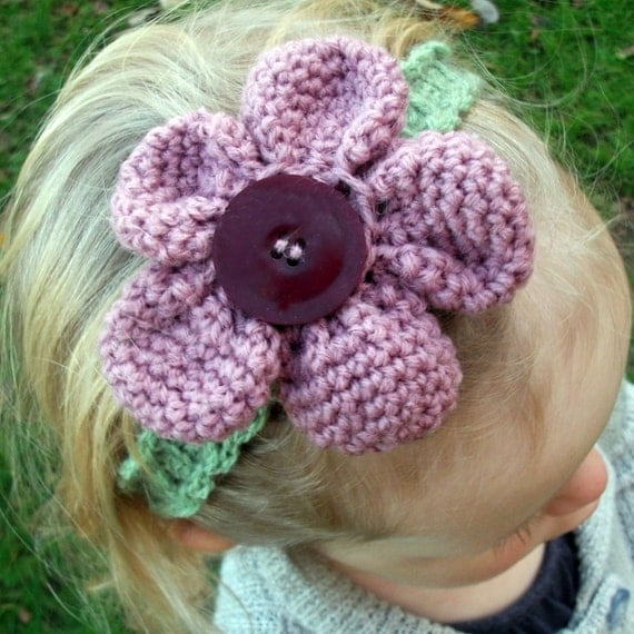 Download Now - CROCHET PATTERN Amigurumi Flower Headband - Baby to Adult - Pattern PDF