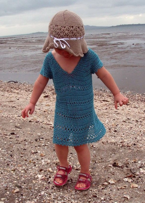 Download Now - CROCHET PATTERN Aquamarine Tunic - Cover-Up - Sizes 2T to Ladies X L - Pattern PDF