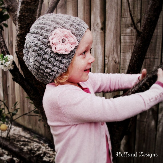 Download Now - CROCHET PATTERN Gracie Hat - Baby to Adult - Pattern PDF