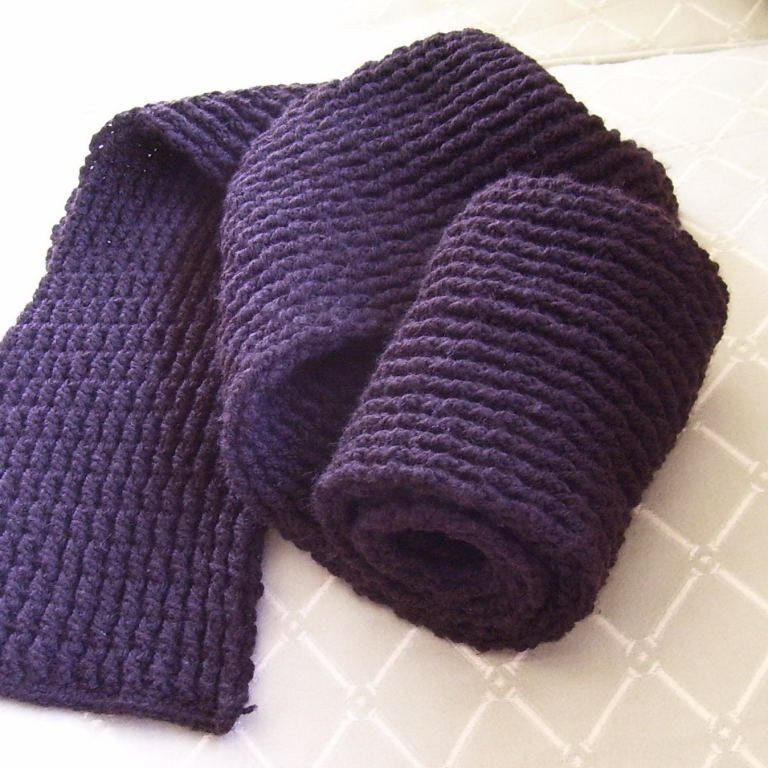 Crochet Scarf Pattern Male : Download Now CROCHET PATTERN Mens Double Ribbed Scarf