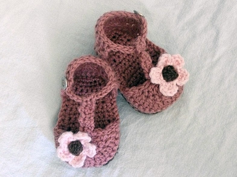 Download Now CROCHET PATTERN Strappy Baby Sandals Pattern
