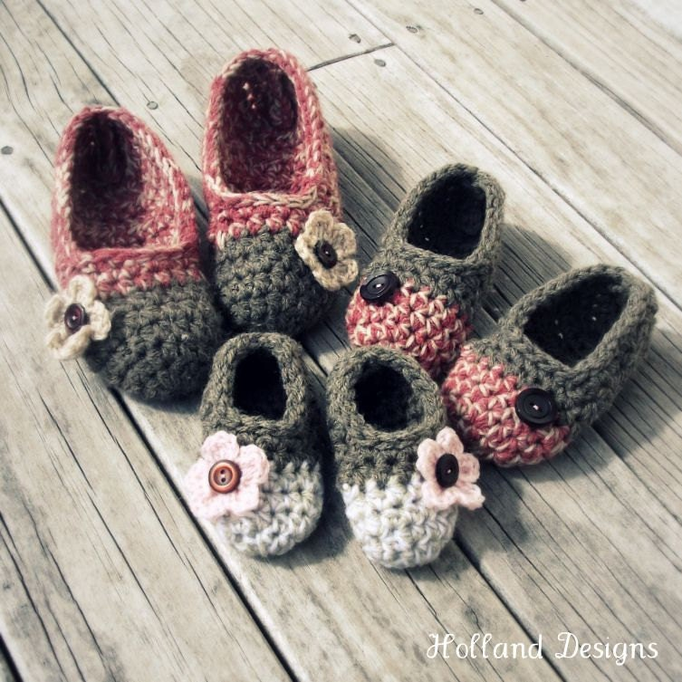 Download Now CROCHET PATTERN Kids Cakewalk Slippers All