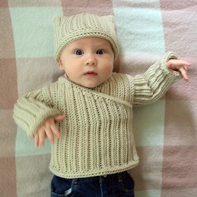 Baby Boy Pullover Knitting Pattern : Download Now CROCHET PATTERN Knit-Look Crocheted Pullover