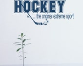 Hockey Extreme Sport Vinyl Wall Words Decal