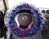 MARIE 3 tone Black Blue Lime GENUINE Monster Steering Wheel Cover