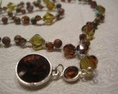 Earthy brown and green y necklace