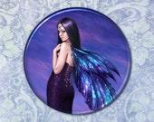 Dark Fairy Mystique Pocket Mirror 2.25 inch