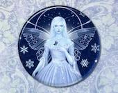 Snow Fairy Pocket Mirror 2.25 inch
