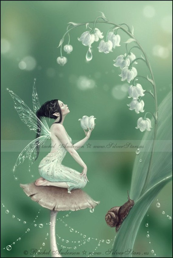 Lily of the Valley Fairy 5x7 Print