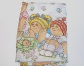 1980s CPK linens / 80s bedding / Cabbage Patch Kids Twin Flat Sheet