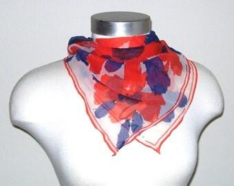 vintage Vera scarf / Daisy Pop Art Scarf by Vera