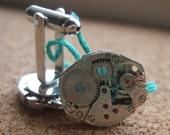 Steampunk Cufflinks - silver backed