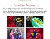 Super Hero Logo Applique Templates