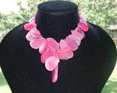 Pink Agate and Wood Bead Choker