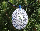 Little Songstress 'Hand Painted Pendant'