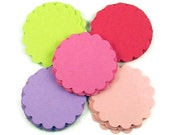 Two Inch Paper Die Cut Circles  Scalloped Circles in Butterfly Wings Set of 50