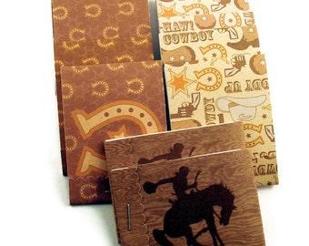 10 Matchbook Notepads  Boy Party Favor   Cowboy
