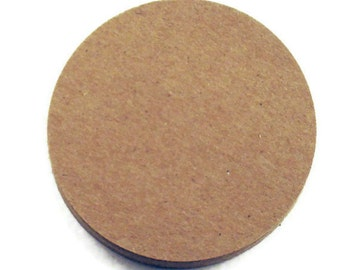 Three Inch Circles Die Cut Paper Circles  3 inch Circles in  Krafty Kraft Quantity 25