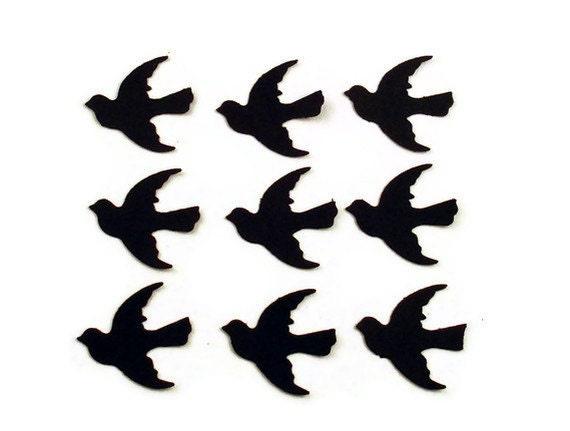 Funfetti Paper Confetti  Doves in  Jet Black  Quantity 250