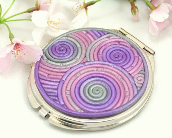 Compact Mirror in Lilac, Lavender, Platinum