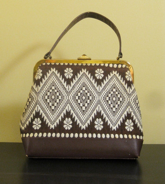 Classic Vintage Pattern Ethnic Handbag