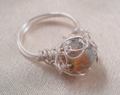 Muddied Waters  Wire Wrapped Ring Size 5