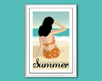 Poster Summer retro print in various sizes