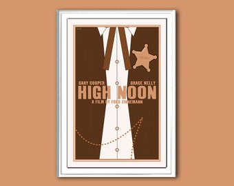 Movie poster retro print High Noon in various sizes