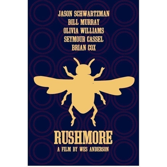 Reduced to clear Rushmore 12x18 inches movie poster