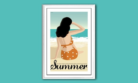 Poster Summer 12x18 inches retro print