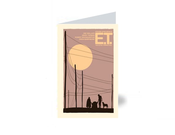 Greeting card E.T. The Extra Terrestrial 4 x 6 Inches