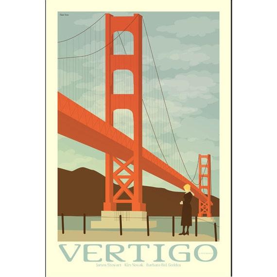Vertigo 12x8 inches retro print