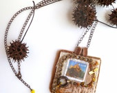 Trakoscan fiber art necklace - Cesart64