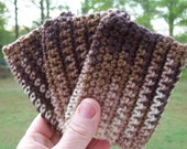 ECO TAWASHI crocheted acrylic scrubbie  eco friendly  set of three  COLOR F