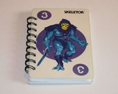SKELETOR Game Card Recycled into a Notebook - Masters of the Universe
