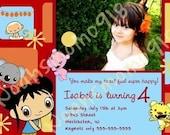 Ni Hao Kai Lan Personized Invitation Squares