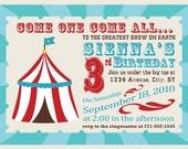 Come One, Come All - Circus Birthday Invitation - Personalized