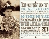 Cowboy Personalized Invitation