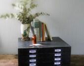 Vintage Metal 5 Drawer Organizing Box