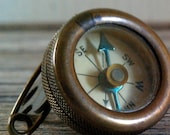 Vintage Marble's Brass Lapel Pin Compass