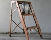 Vintage Step Ladder  Copper Color Metal