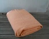 Wool Blanket Peach Vintage Golden Dawn JC Penny
