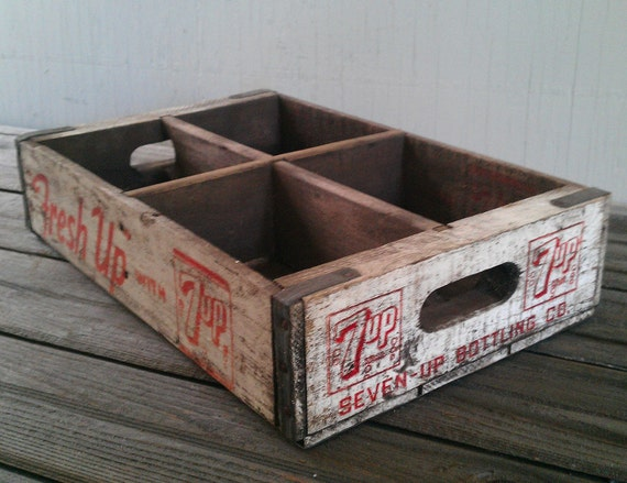Fresh Up with 7up Vintage Soda Pop Crate