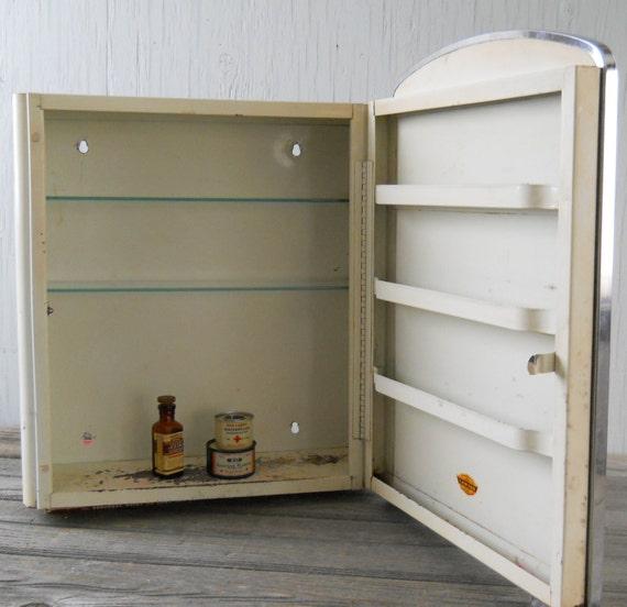Medicine Cabinet Vintage Lawson Metal With Mirror