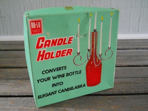 Wine Bottle Candelabra Candle Holder made in Japan