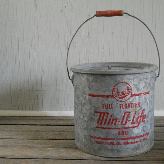 Minnow Bait Bucket Galvanized Minnow Bucket