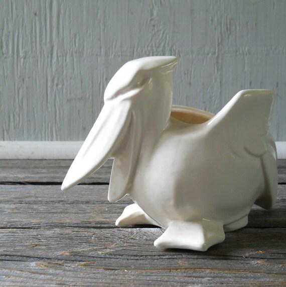 Ivory Pelican Planter Nelson McCoy