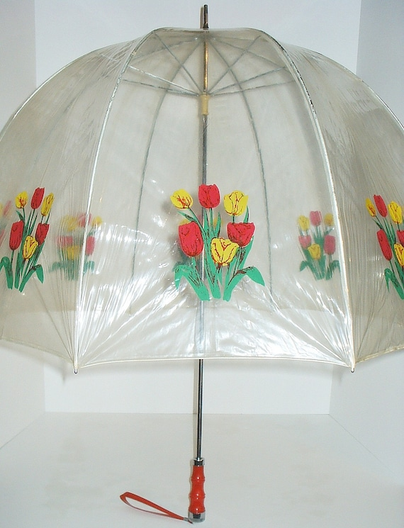 Vintage Bubble Umbrella With Tulips By Lisabretrostyle2 On