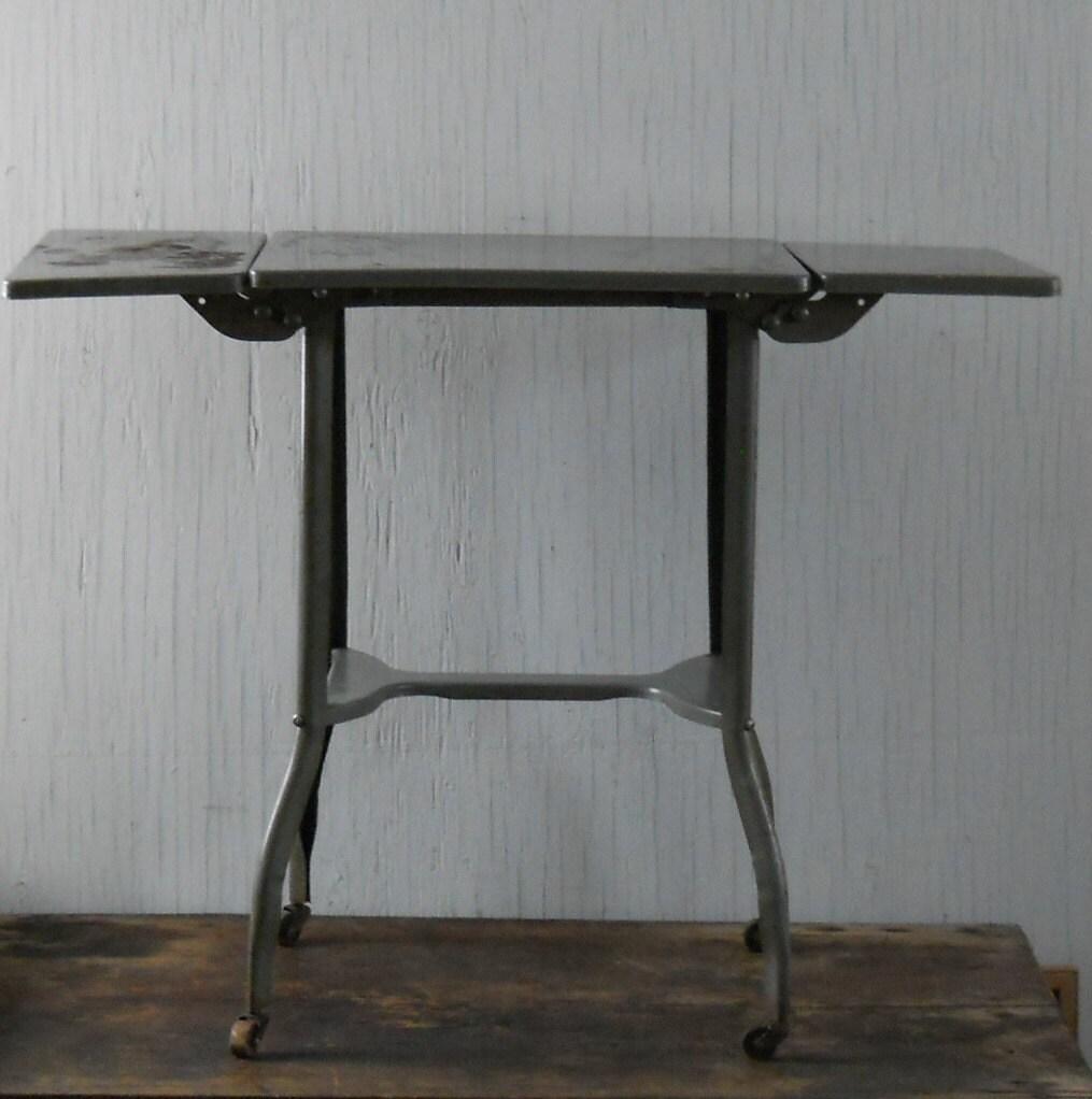 Table Vintage Rallong Pied Metal Fenrez Com Sammlung Von  # Meuble Tele Vintage